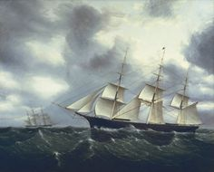"""""""Illuminating the Sea: The Marine Paintings of James E. Buttersworth, 1844-1894"""" Mystic Seaport Accession #1992.21.10"""