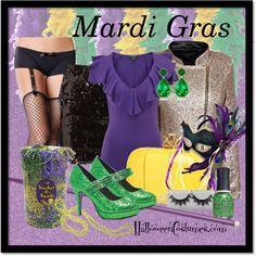 Mardi Gras outfit idea #Fashion #Accessories