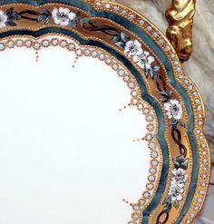 Hand painted china with vintage gold inlay on 18th century china from Poland. . . . . . #China #Plate #Dining #GoldInlay #DinnerPlate #Dinner #TableScape #DinnerParty #Party #Celebration #Celebrate #Fancy #Gold #Luxury #DotLuxury #Elegant #Dine #DiningRoom #DiningRoomDecor #DiningSet