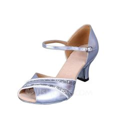Women's Leatherette Heels Sandals Latin With Buckle Dance Shoes (053056402)