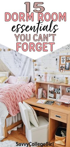 The 15 dorm room essentials you don't want to forget for college! All of these are great ways to make your dorm room feel like home! my roommate and I used all of these dorm room essentials freshman… College Dorm Organization, College Dorm Essentials, College Room Decor, College Dorm Decorations, Room Essentials, College Dorm Necessities, Organization Ideas, College Packing, College Survival