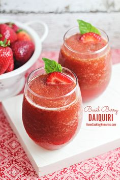 Basil Berry Daiquiri - an easy summer cocktail recipe that's great for parties, summer barbecues…or anytime!   #EnjoyResponsibly
