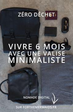 Forthemermaids.fr | Blog zéro déchet & minimalisme - Vivre 6 mois avec une valise minimaliste Herschel Heritage Backpack, Zero Waste, Bags, Travelling, Explore, Lifestyle, Clothes, Minimalist Clothing, Minimalism