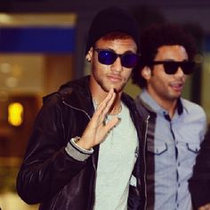Neymar and Marcelo Brazil national football team