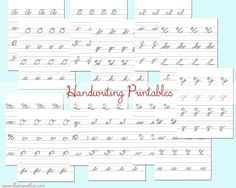 I hate that schools aren't teaching cursive anymore. Work with your kiddos at home with these Cursive Handwriting Practice Sheets