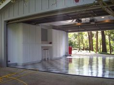 Drive through garage, exactly what we want! 2 garage doors to let you have access to the back yard!