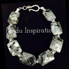 Black labradorite and sterling silver bracelet on Etsy, $95.00