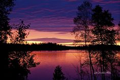Lake Vermilion, Minnesota:  Known for it's stunning sunset views.