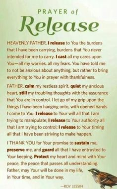 Sweet Dreams: Prayer of Release. Believe Trust God & Walk it out. Prayer Times, Prayer Scriptures, Bible Prayers, Faith Prayer, God Prayer, Power Of Prayer, Bible Verses, Healing Prayer, Catholic Prayers