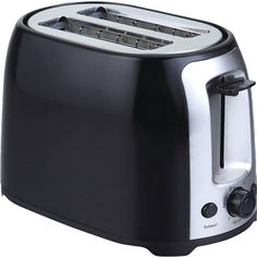 BRENTWOOD TS-292B 2-Slice Cool Touch Toaster (Black & Stainless Steel) • Stainless steel • Elegant combination of black & stainless steel design • Large body • Wide slots for gourmet breads • Seven se