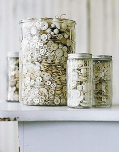 love the button jars!