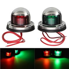 Yacht Light 12V Stainless Steel LED Bow Red Green Navigation Lights Marine Boat  Worldwide delivery. Original best quality product for 70% of it's real price. Buying this product is extra profitable, because we have good production source. 1 day products dispatch from warehouse. Fast &...