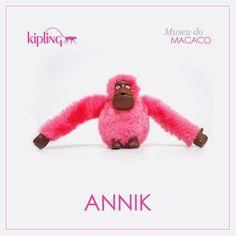 Você sabia que a Kipling tem muitos macacos especiais? Esse é o macaco Annik! Venha conhecer os outros ;)