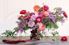 Romantic rose + lilac bouquet