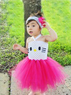 do something similar maybe a t shirt instead and she already hello kitty costumehello kitty tutuhalloween - Halloween Hello Kitty Costume