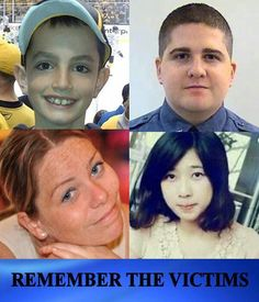 REMEMBER THE VICTIMS OF MONDAY'S BOSTON MARATHON BOMBINGS