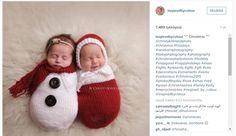 Kudottuihin jouluasuihin puetut vastasyntyneet täyttävät sydämen joulumielellä - katso söpöt kuvat