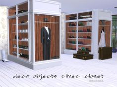 Sample of Decoobjects for the Closet - Part of the Clive C Series  Found in TSR Category 'Sims 4 Adult Bedroom Sets'