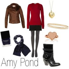 Amy Pond-inspired outfit.  I've noticed most of these characters have double-breasted coats