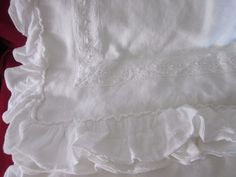Details About Piu Belle White Ruffle Shabby Chic Bedspread