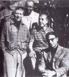 Jean Gabin, Marcel Carné, Jacques Prévert et Joseph Kosma 1945