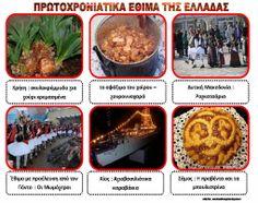 Το νέο νηπιαγωγείο που ονειρεύομαι : Πρωτοχρονιάτικα έθιμα της Ελλάδας - Πίνακες αναφοράς Christmas Crafts, Xmas, Greek Language, Craft Activities, Education, Food, Google, Xmas Crafts, Christmas