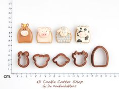 Farm Animals Cookie Cutter Set (small)