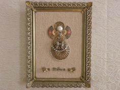 OneofaKind Framed Vintage Jewelry Art Angel by JewelArtbyLinda, $14.99