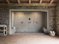 Dampfbad mit Dusche für Chromotherapie NONSOLODOCCIA - Glass 1989