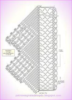 Maravillosa puntilla con explicación y patrón | Crochet y Dos agujas