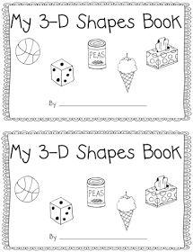 3D Shape Activity My 3D Shapes Mini-Book Common Core