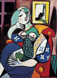PabloPicasso-Woman-with-Book-1932.jpg (300×406)