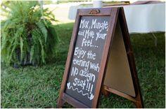 Such an adorable sign! :)  Elizabeth Henson - Hill City Bride #diy #signage #signs #wedding #virginiawedding