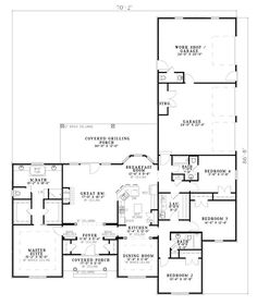 First Floor Plan of European   Traditional   House Plan 61039