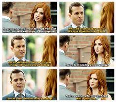 Harvey and Donna Suits Show, Suits Tv Shows, Best Tv Shows, Favorite Tv Shows, Movies And Tv Shows, Suits Quotes, Tv Quotes, Suits Tv Series, Donna Paulsen