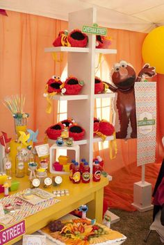Amazing Sesame Street birthday party!  See more party planning ideas at CatchMyParty.com!