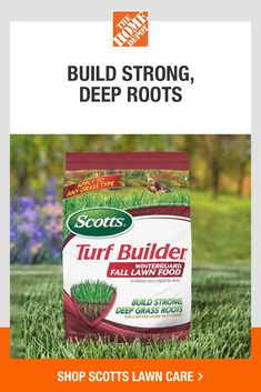 Fall is the best time to feed and seed your lawn. Scotts can help your lawn build strong roots and grow up to 50% thicker grass. Explore products like Scotts Turf Builder Winterguard, Thick'R Lawn and EZ Seed. Click to shop Scotts lawn care products at The Home Depot. Get it delivered or pick up in store. *Results 21 days after application. Product received deep initial water and daily watering thereafter. Actual results may vary. *Subject to proper care, may vary based on current lawn…