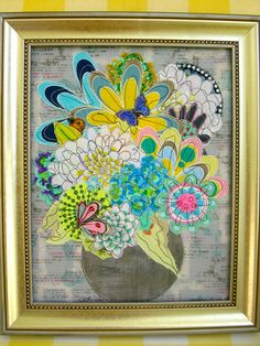 Modern Floral Applique Art QuiltFree Shipping by QuiltAttic, $220.00