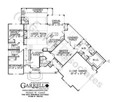 Hot Springs Cottage House Plan # 08142, 1st Floor Plan,  Now to just find the right place to put it!!!
