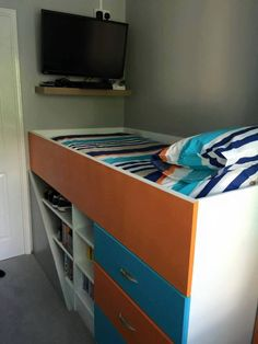 Box Room Bedroom Ideas For Kids, Stair Box In Bedroom, Box Room Beds, Bedroom Decor For Teen Girls, Small Room Bedroom, Spare Room, Kids Bedroom, Bulkhead Bedroom, Stairs Bulkhead