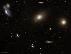 With its heart lying about 70 million light years distant, the Virgo Cluster is the nearest cluster of galaxies, contains over 2,000 galaxies, and has a noticeable gravitational pull on the galaxies of the Local Group of Galaxies surrounding our Milky Way Galaxy. - Image Credit: NASA/ESA/ESO/NAOJ/G. Paglioli