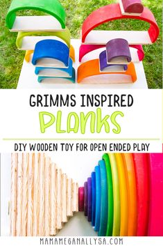 Super Simple DIY Semicircles and Planks for Extra Rainbow Fun - MamaMeganAllysa Diy Gifts For Kids, Diy For Kids, Crafty Projects, Projects For Kids, Easy Diy, Simple Diy, Super Simple, Rainbow Wood, Wooden Building Blocks