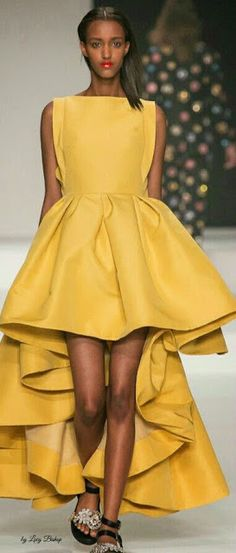 cede59bdf4e Claes Iversen Spring 2015 MBFW Yellow Fashion