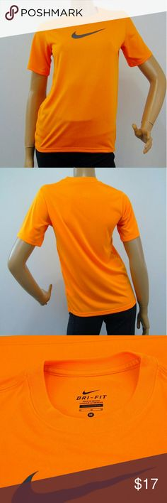 "Nike Dri Fit Neon Yoga Fitness Athletic Shirt NIKE Dri-Fit Women's Neon Orange Short Sleeve Athletic Shirt Sz M Running Yoga Fitness ~?Label : Nike , Dri - Fit ~?Product :?Workout Shirt ~ Short Sleeve Top ~?Material : 100% Polyester ~?Color : Neon Orange ~?Size : Tagged Size Medium ~?Measurements : Chest 18"" ( flat unstretched ) , 25"" Garment Length ~?Pre-owned , no flaws observed Nike Tops Tees - Short Sleeve"