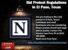 Bid Protest Regulations in El Paso, Texas