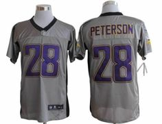 Men's Nike NFL Minnesota Vikings #28 Adrian Peterson Grey Vapor Elite Jersey  The price is $22 each, 10 orders will be free shipping, more orders, more discount. Quality   is guaranteed! If you are interested in them, pleases E-mail  chinawholesalejerseys@outlook.com