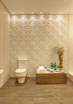 banheiros com revestimentos em relevo - Pesquisa Google