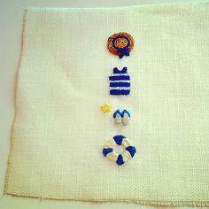いいね!65件、コメント10件 ― @siwooinparisのInstagramアカウント: 「완성! 날 좋을 때 여름 느낌 나는 자수를 후다닥 놓았지요. // une broderie l'air d'été #broderie #modern_embroidery #프랑스자수」