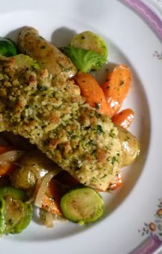 For Love of the Table: Ragoût of Winter Vegetables served with Salmon Baked with Herbed Mustard Breadcrumbs