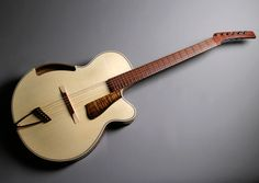I was wondering if the Parker archtop would have the same nerdy headstock as the Fly.  There's your answer.